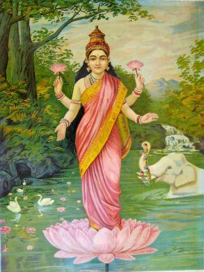 Lakshmi by Raja Ravi Varma