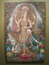 Balinese painting of Saraswati