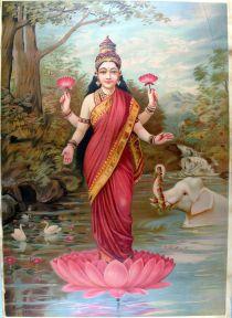 Lakshmi, 1894 lithograph