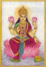 Marble painting of Lakshmi
