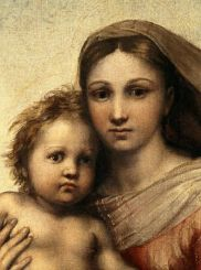 Raphael's Madonna and child from Sistine Chapel