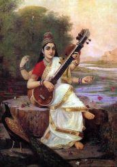 Saraswati by Ravi Varma