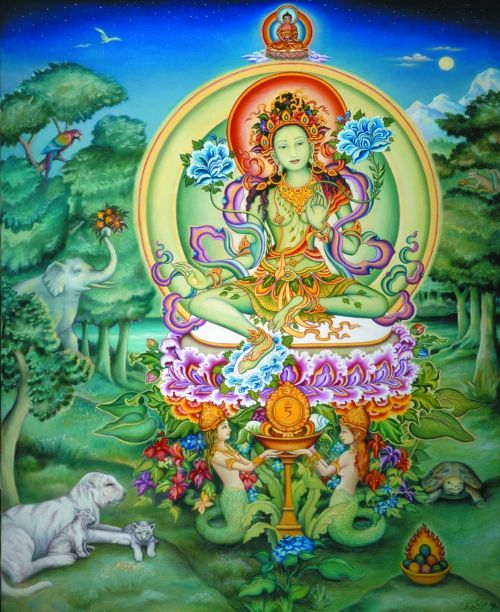 Green Tara, Buddhist Goddess of compassion and enlightened activity