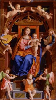 Bernardino Luini, Madonna and Child with Angels