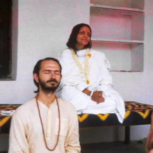 Swami Kriyananda with Anandamayi Ma