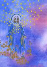 Thousands of Suns, painting by Mantradevi based on Yogananda's chant.