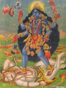 Lithograph of Kali from Kolkata, c. 1895
