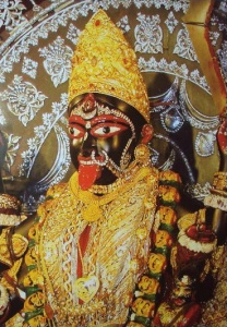 Closeup of Kali at Dakshineswhar Temple in Kolkata